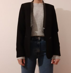 H&M Blazer in pelle nero Finta pelle