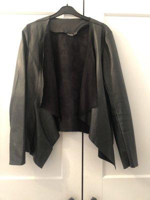 Esmara Leren blazer zwart