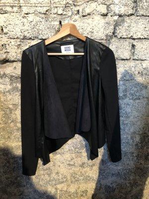 Vero Moda Blazer en cuir noir
