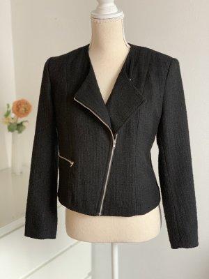 H&M Blazer en tweed noir
