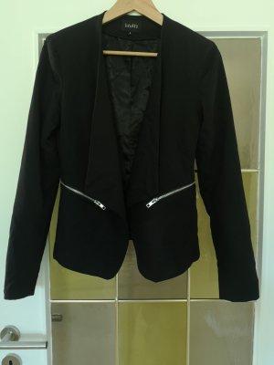 schwarzer Blazer mit Wasserfallkragen von mbyM S