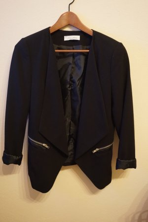 Aniston Blazer court noir polyester