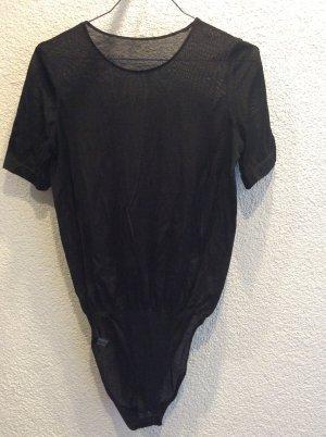 Schwarzer Body Satin Cotton von Wolford