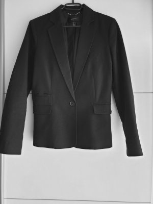 Mango Suit Klassischer Blazer nero Cotone