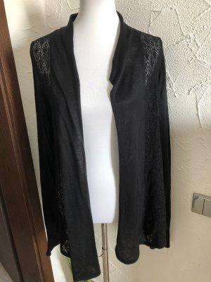 schwarzer Cardigan mit Löchermuster von Orsay - Gr. 42/44
