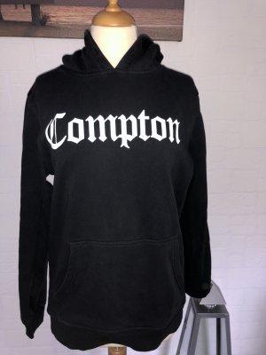 Schwarzer Compton-Pullover