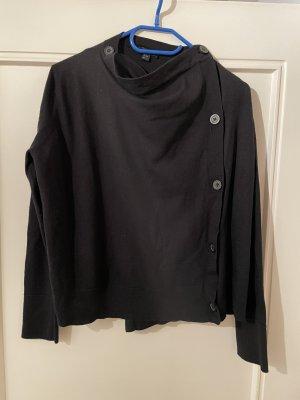 Schwarzer COS Pullover mit Knopfleiste