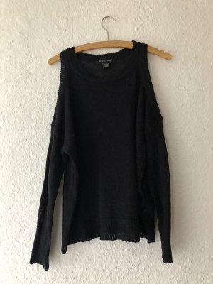 Schwarzer dünner Pullover Cut-Out
