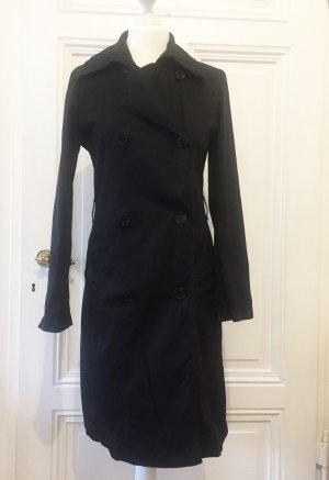 Benetton Trench Coat black cotton