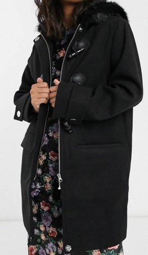 Asos Petite Duffle-coat noir
