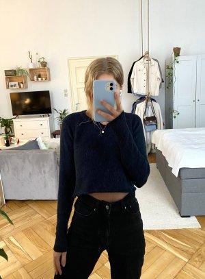 mbyM Jersey de lana negro-azul oscuro