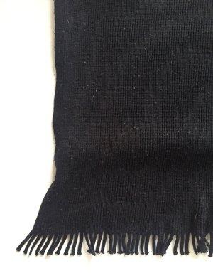 Sciarpa lavorata a maglia nero Tessuto misto