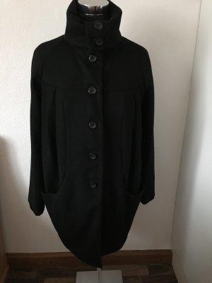 H&M Abrigo de lana negro tejido mezclado