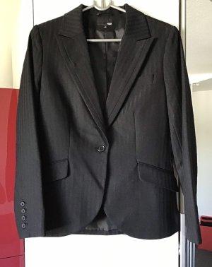 H&M Blazer boyfriend noir polyester