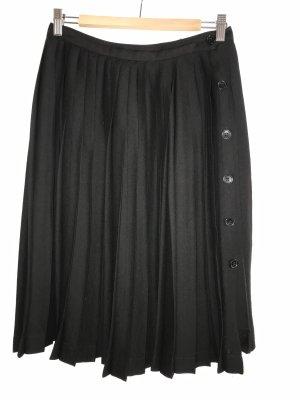 Zara Basic Plaid Skirt black