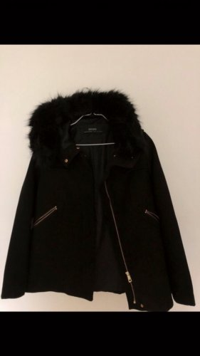 Zara Giacca di pelliccia nero