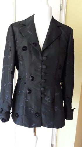 schwarzer festlicher Blazer mit Etikett von Fabrizio A. Grösse 40