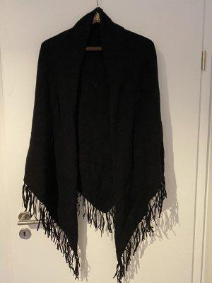 Hallhuber Châle au tricot noir