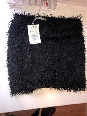 Pull & Bear Fringed Skirt black