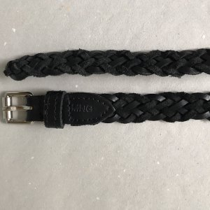 Mango Braided Belt black-silver-colored