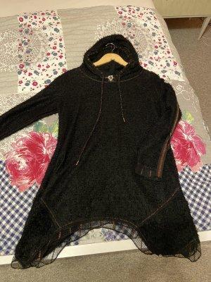 Schwarzer Glitzer Kaputzen Sweater