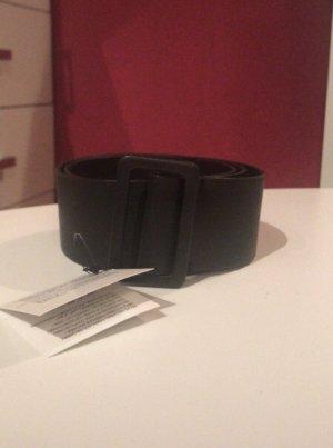 Vintage Cinturón de cuero de imitación negro