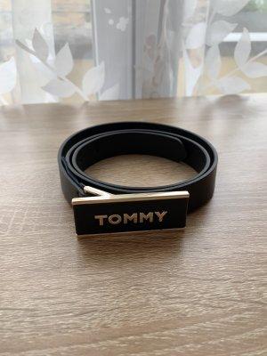 Tommy Hilfiger Cintura di pelle nero-oro