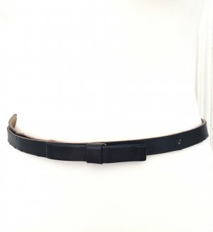 H&M Faux Leather Belt black mixture fibre