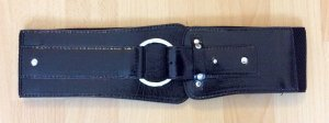 Pieces Belt black polyurethane