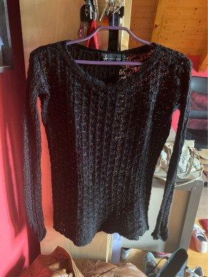 ATMOSPHÄRE Szydełkowany sweter czarny