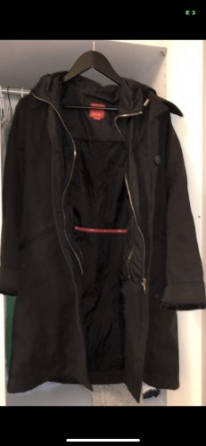 schwarzer Herbstcoat in M von Esprit