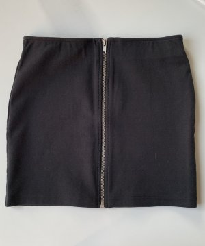 H&M Divided High Waist Skirt black-silver-colored cotton
