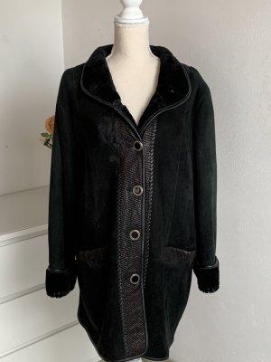 Schwarzer Hochwertiger Leder Mantel von La Piel
