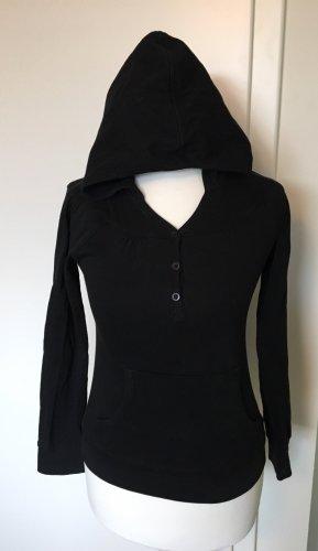 Shirt met capuchon zwart