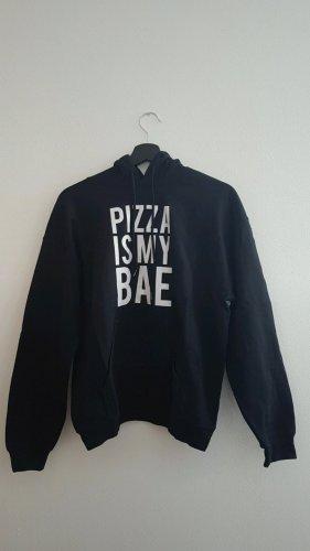 """Schwarzer Hoodie """"Pizza is my bae"""""""