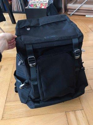 Invicta Sac à dos pour ordinateur portable noir-argenté nylon