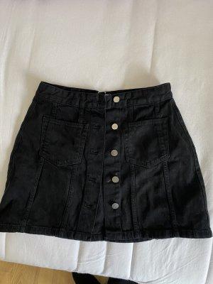 Schwarzer Jeans Rock