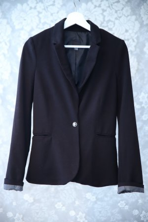 Schwarzer Jersey-Blazer