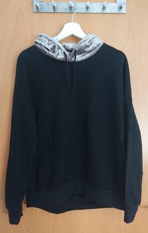 Fräulein Stachelbeere Camicia con cappuccio nero-argento