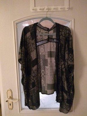 New Look Kimono white-black