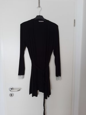 Anna Field Dressing Gown black-white viscose