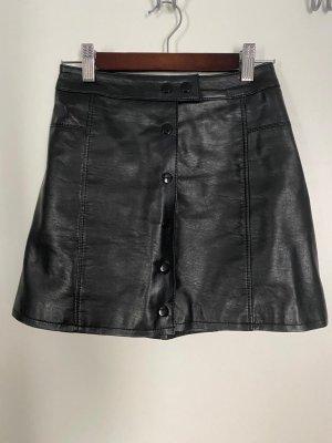 H&M Divided Spódnica z imitacji skóry czarny
