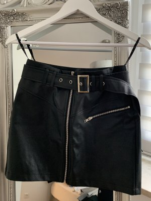 Missguided Faux Leather Skirt black