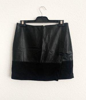 24Colours Jupe en cuir synthétique noir