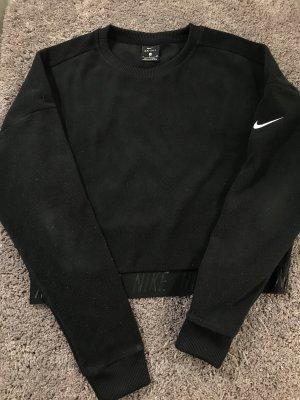 Schwarzer kurz geschnittener fleece Pullover von Nike