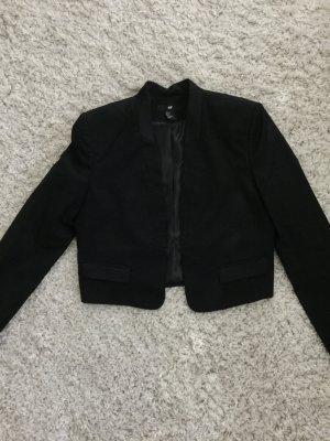 H&M Korte blazer zwart Polyester