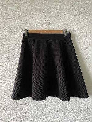 schwarzer kurzer Faltenrock H&M
