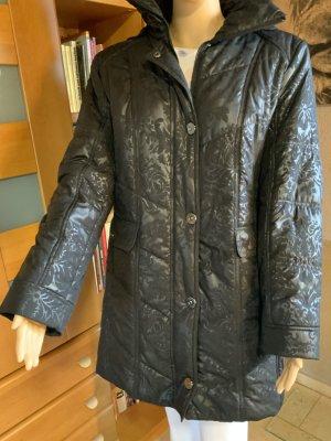 BARBARA LEBEK Cappotto con cappuccio nero Poliestere