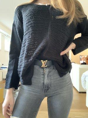 Aniston Pull tricoté noir acrylique
