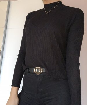 H&M Divided Camisa de cuello de tortuga negro